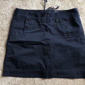 JCrew navy chino sailor skirt 6